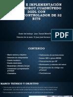 Diseno e Implementacion de Un Robot Cuadrupedo TFM JDaniel Miret Rubio
