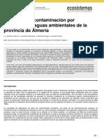 Estudio de La Contaminación Por Pesticidas en Aguas Ambientales