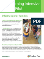Early Learning Intensive Support Pilot
