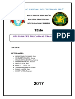 Informe Nesecidades Educativas Transitorias