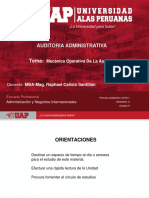 semana 5 Mecánica Operativa De La Auditoria Administrativa-2018-1.ppt