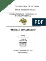 Energía y contaminación