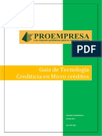 Tecnologia crediticia Manual Proempresa