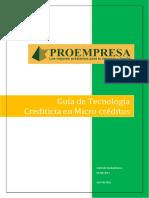 Tecnologia crediticia Manual Proempresa