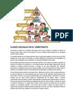 Clases Sociales en El Virreynato