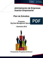 Plan de Estudios Big Data Specialist is 2018