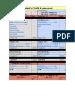 co-op assessment spreadsheet