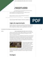 3 Lógica de Argumentação_ Analogias, Inferências, Deduções e Conclusões - Central de Favoritos