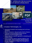 A Systems Approach for Managing Fatigue in Mining Operations