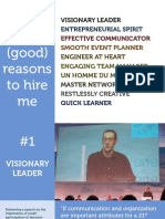 10 (good) reasons to hire me