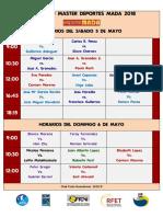 Horarios 5-6 Mayo 2018