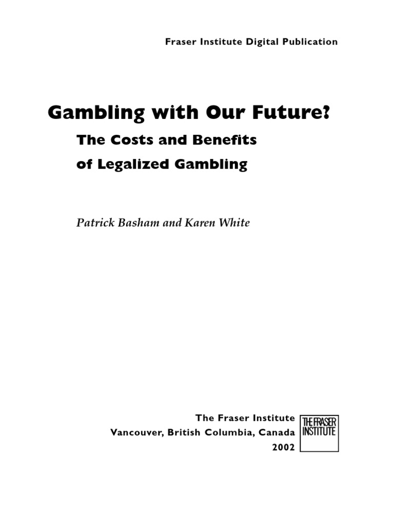 The social costs of gambling and economic perspective gambling gone wrong