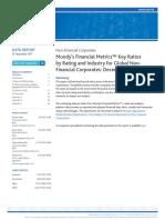 Moody's Financial Metrics Key