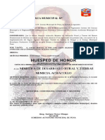 Ordenanza Municipal Nº 006