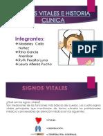 Signos Vitales e Historia Clinica