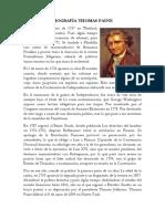 Biografía Thomas Paine