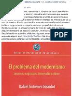 Rafael Gutiérrez Girardot - Comentario Carlos Sánchez sobre El problema del modernismo