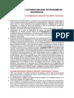 Histórico de Accidentabilidad Petroquímicas Nacionales