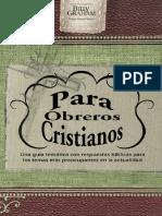 Billy Graham - El Manual Para Obreros Cristianos