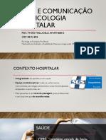 Ética e comunicação na psicologia hospitalar