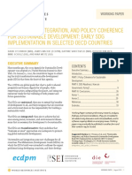 Universality Integration and Policy Coherence for Sustainable Development Early SDG Implementation in Selected OECD Countries