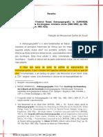 Resenha Durkheim - Antropogeografia (1)