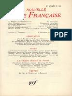 La Nouvelle Revue Francaise n 133 Janvier 1964