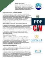Los 14 Ministerios de Guatemala Ministerio de Agricultura