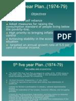 5th Five Year Plan