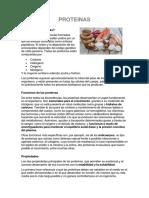 Proteinas Definicion y Tipos de Enlace