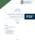Control Higienico de Superficies Vivas