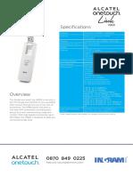 Alcatel W800_Datasheet