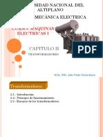 Capitulo II Maquinas Electricas, TRAFOS