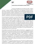 Ensayo Encuentro Internacional en Educación Matemática Segunda Version