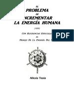 TESLA - El Problema de Incrementar La Energia Humana