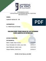 Exposicion Grupal Agente Retenedor Patrono