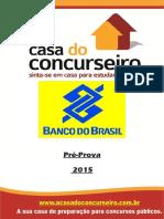 BB Casa Do Concurseiro Aulao Pre Prova BANCO DO BRASIL2015