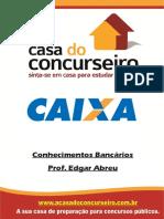 Apostila CEF Conhecimentos Bancarios Edgar Abreu a Casa Do Concurseiro CAIXA