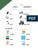 Vocabulary Unit1 Explorers 2