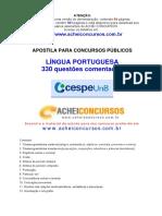 Apostila de 330 Questoes Comentadas de Lingua Portuguesa Do Cespe UnB
