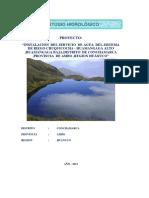 Ultimo Informe Final de Estudio Hidrológico Chuquicocha