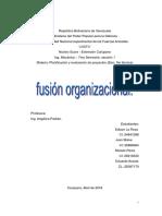 Trabajo Fusión Organizacional