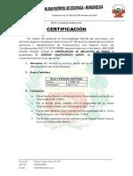 Certificacion de Predio