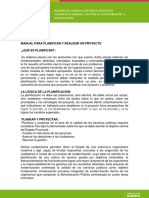 Manual Para Planificar y Realizar Un Proyecto
