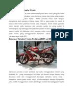 Sejarah Motor Yamaha Vixion