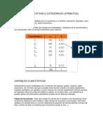 Variables Cualitativas o Categóricas1