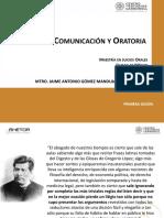 Tecnicas de Comunicacion y Ora Toria. MJO.cec. Marzo 2018