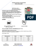 Pvc Extra Reforzado Transparente Etiqueta Verde Ft
