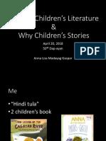 20180420 What is & Why Children's Literature