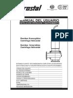 Manual Linea-3 18 Bomba Helicoidal Sumergible e Inmersible (03-2015)